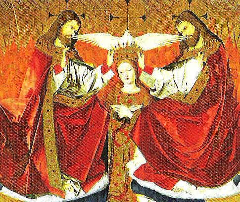 Le couronnement de la Vierge - Enguerrand Quarton - 1454