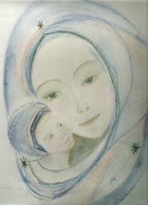 Vierge bleue