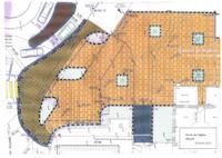 Plan du parvis devant l'église de Venelles