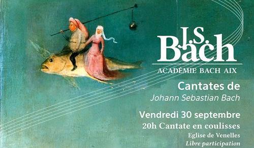 Vendredi 30 septembre - 20h00 Cantate en coulisses - Église de Venelles