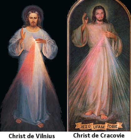 Christ de Vilnius et Christ de Cracovie