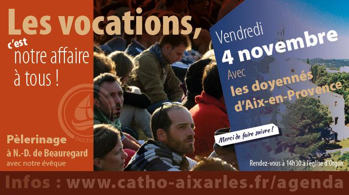 Les vocations, c'est notre affaire à tous. Rendez-vous à l'église d'Orgon le 4 novembre à 14h30.