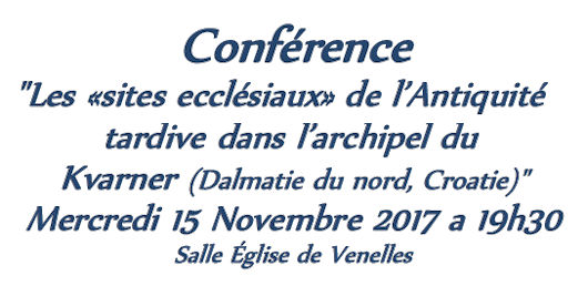 Conférence, église de Venelles, 15 novembre 2017 à 19h30
