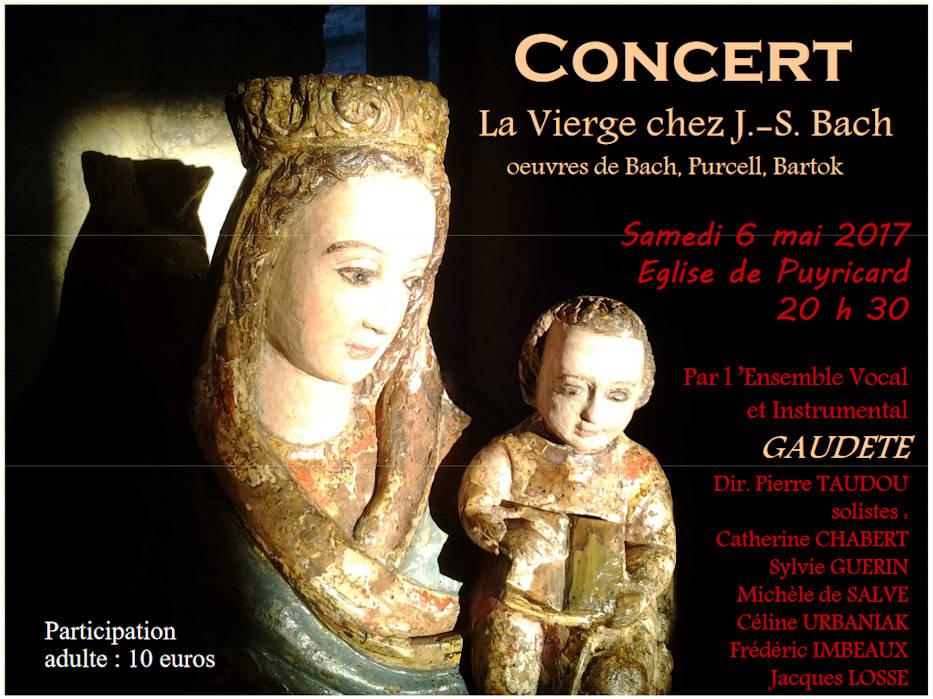 Concert - La Vierge chez J.-S. Bach par l'Ensemble Vocal et Instrumental GAUDETE