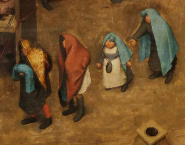 Brughel l'Ancien - Le cortège du baptême avec des petites filles portant la huque