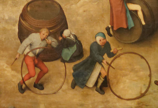Brughel l'Ancien - Jeux d'habileté avec cerceaux