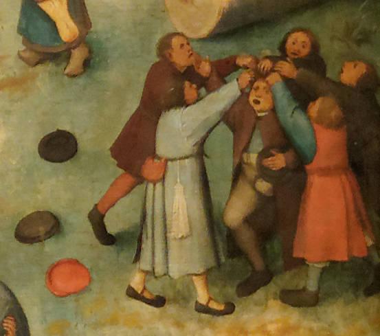Brughel l'Ancien - Choisir une victime et lui tirer les cheveux