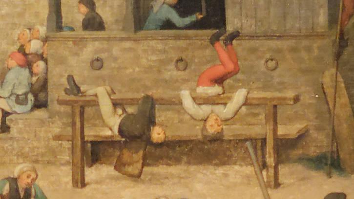 Brughel l'Ancien - Les facéties sur un grand banc