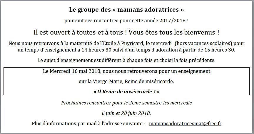 Mamans adoratrices - 16 mai 2018