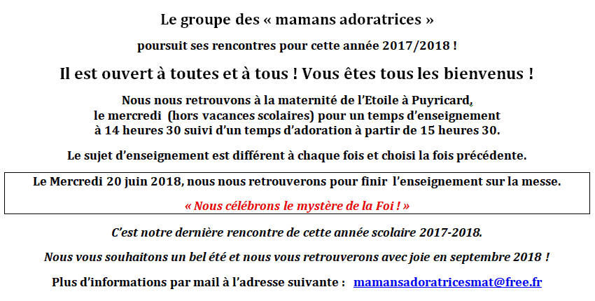 Mamans adoratrices - 20 juin 2018