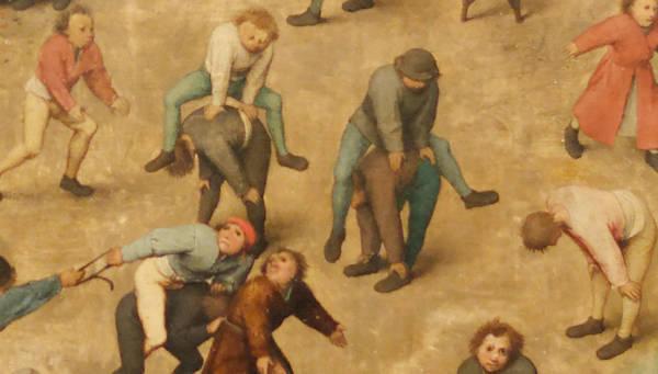 Brughel l'Ancien - Jouer à saute-mouton