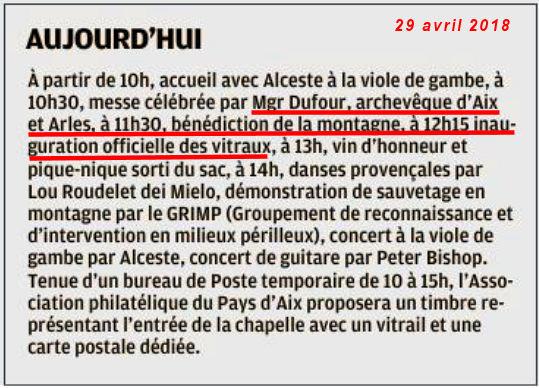 La Provence du 29 avril 2018