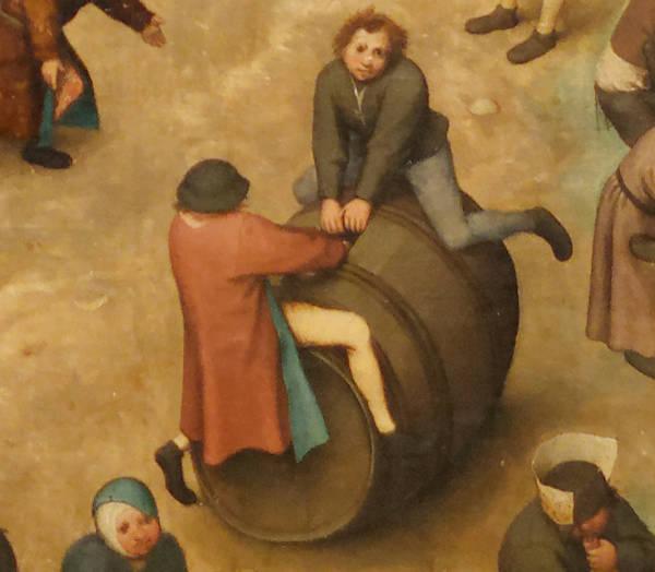 Brughel l'Ancien - Balançoire sur tonneau