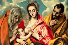 Vierge allaitant entre sainte Anne et saint Joseph - El Greco.