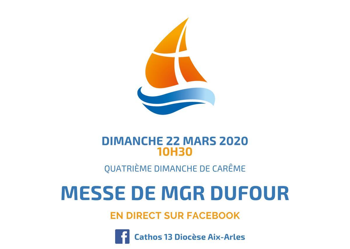 Messe de Mgr Dufour en direct depuis Facebook