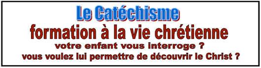 Inscriptions catéchisme