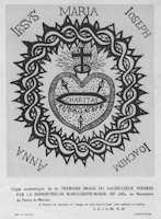 Sacré-cœur stylisé Marguerite Marie