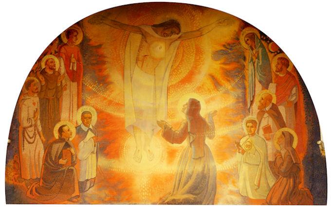 Chapelle du Monastère de la Visitation de Paray le Monial - Fresque du chœur
