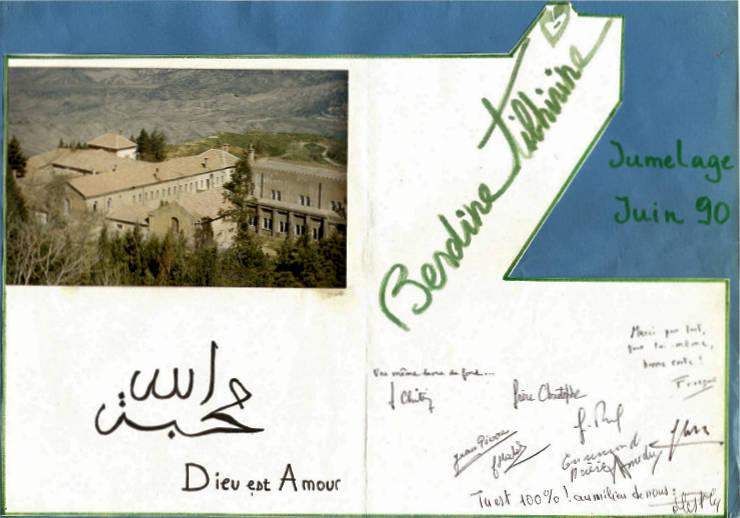 Jumelage Berdine-Tibhirine juin 1990