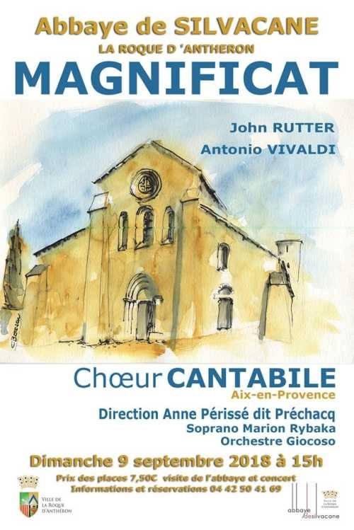 Concert chœur Cantabile - Abbaye de Silvacane, La Roque d'Anthéron le 9 septembre à 15h00