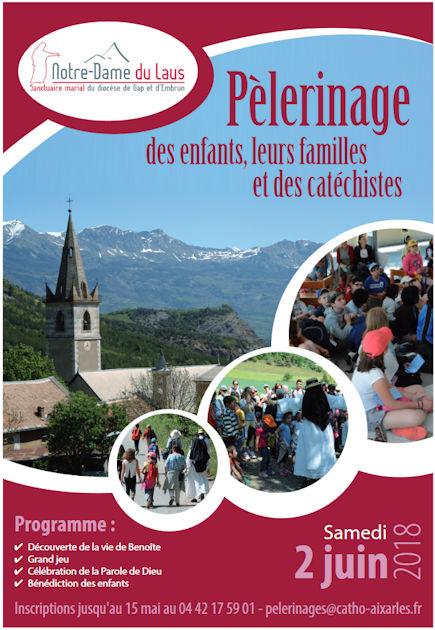 Pélerinage enfants, familles, catéchistes à Notre-Dame du Laus