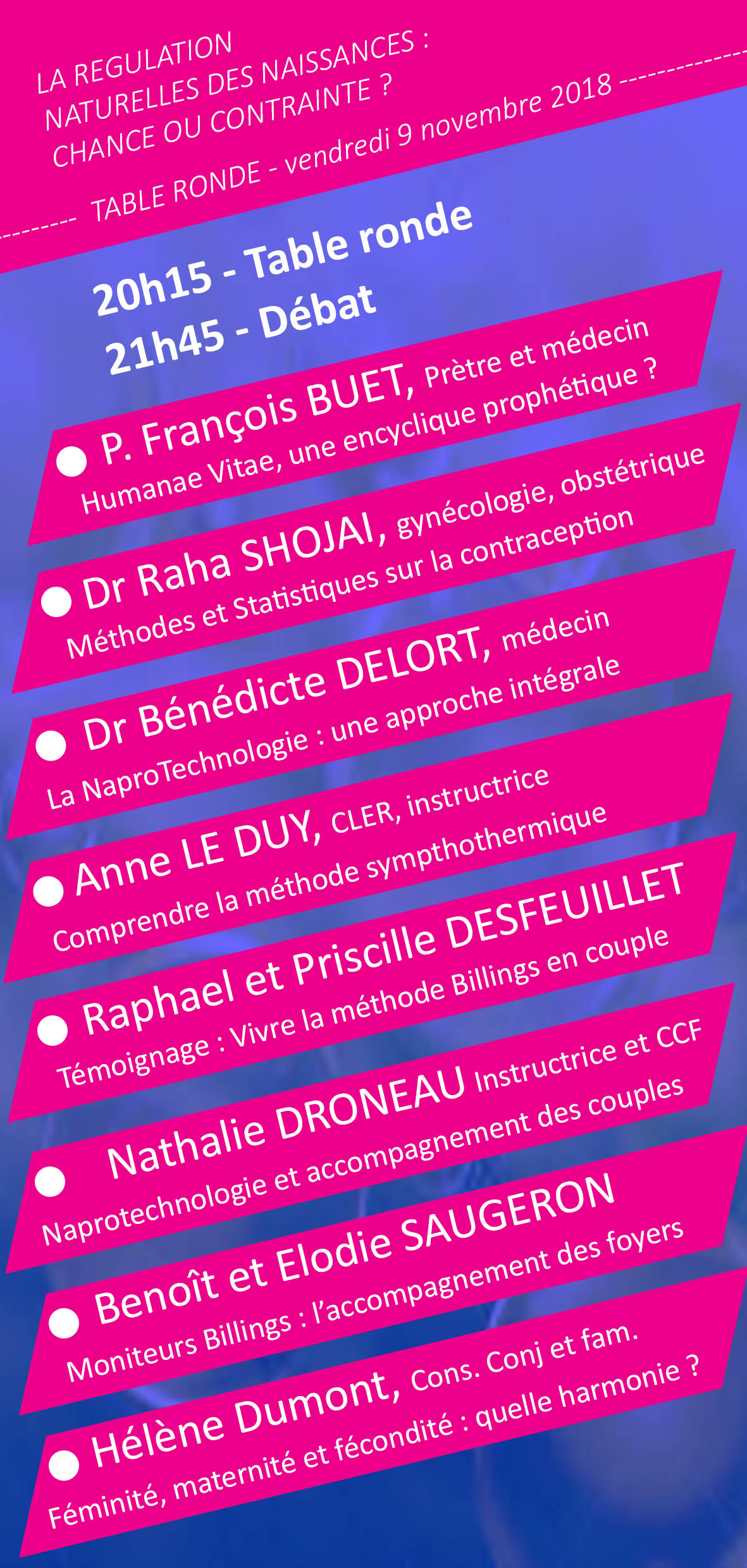 Table ronde regulation naturelle flyer verso