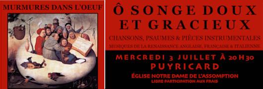 Concert, 3 juillet 2019 - Église de Puyricard