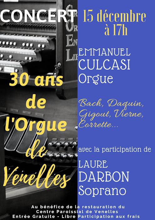 30 ans de l'orgue de Venelles, concert, Emmanuel CULCASI