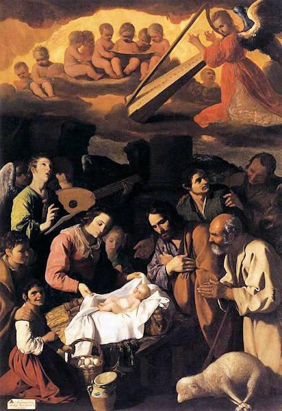 L'adoration des bergers - Francisco de Zurbarán (1598-1664)