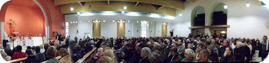 Environ 650 fidèles assistaient à la consécration