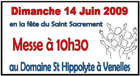 Fête paroissiale au domaine de St Hippolyte 14 juin 2009